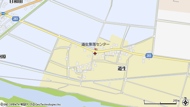 山形県寒河江市道生112周辺の地図
