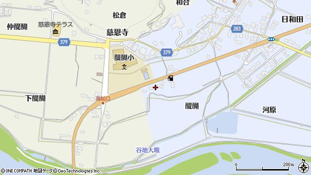 山形県寒河江市日和田15周辺の地図