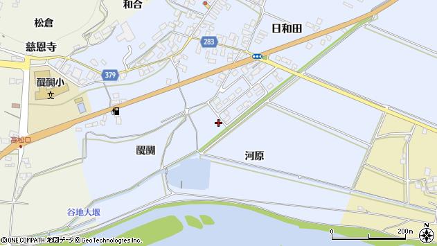 山形県寒河江市日和田50周辺の地図