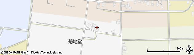 山形県寒河江市菊地堂周辺の地図