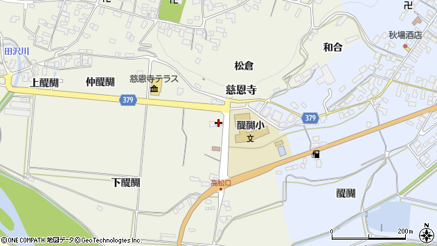 山形県寒河江市慈恩寺1189周辺の地図