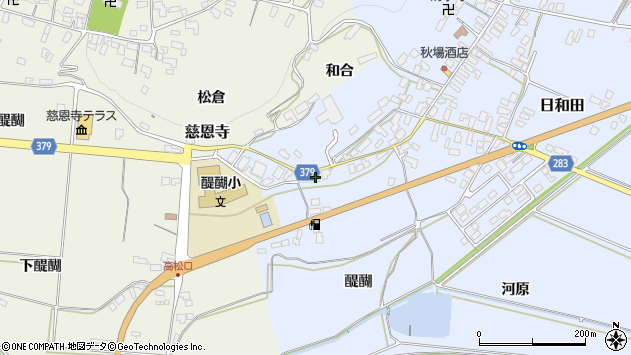 山形県寒河江市日和田726周辺の地図