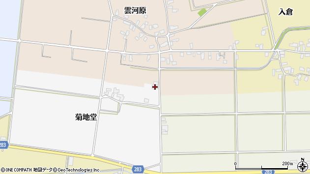 山形県寒河江市菊地堂90周辺の地図