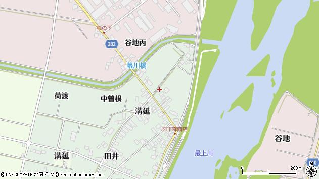 山形県西村山郡河北町田井下宿周辺の地図