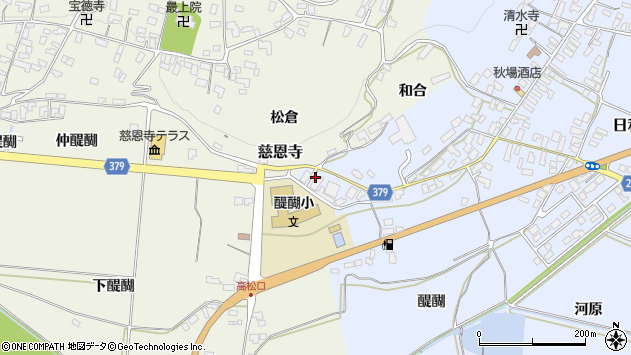 山形県寒河江市日和田6周辺の地図