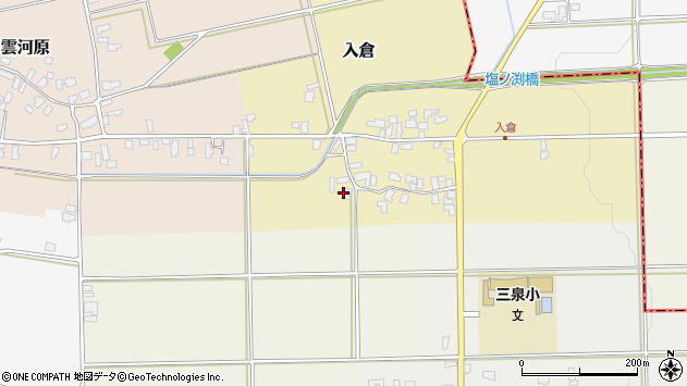 山形県寒河江市入倉56周辺の地図