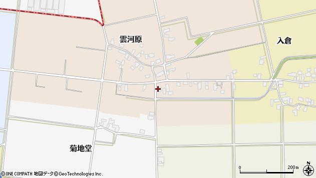 山形県寒河江市雲河原180周辺の地図