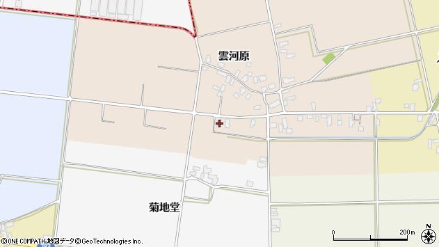山形県寒河江市雲河原25周辺の地図