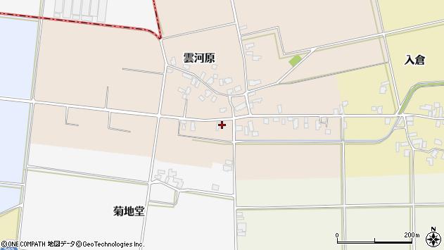 山形県寒河江市雲河原26周辺の地図