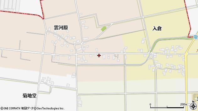 山形県寒河江市雲河原171周辺の地図