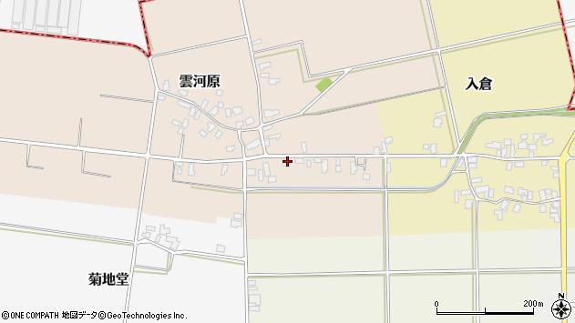 山形県寒河江市雲河原174周辺の地図