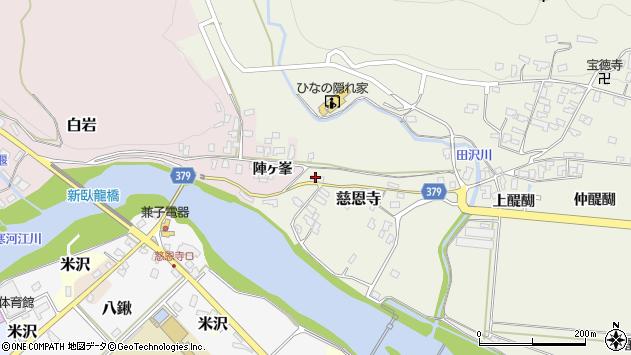山形県寒河江市慈恩寺37周辺の地図