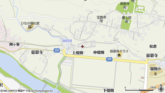 山形県寒河江市慈恩寺66周辺の地図