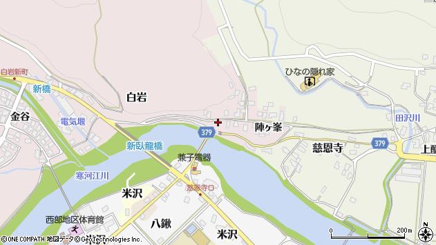 山形県寒河江市白岩2435周辺の地図