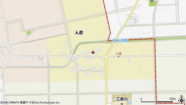 山形県寒河江市入倉115周辺の地図