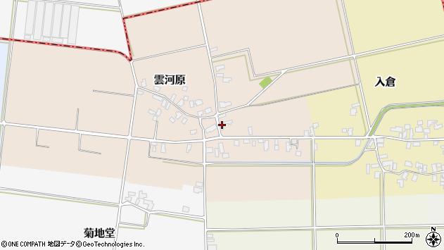 山形県寒河江市雲河原158周辺の地図