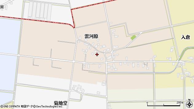 山形県寒河江市雲河原211周辺の地図