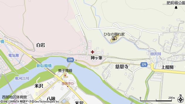山形県寒河江市白岩2447周辺の地図