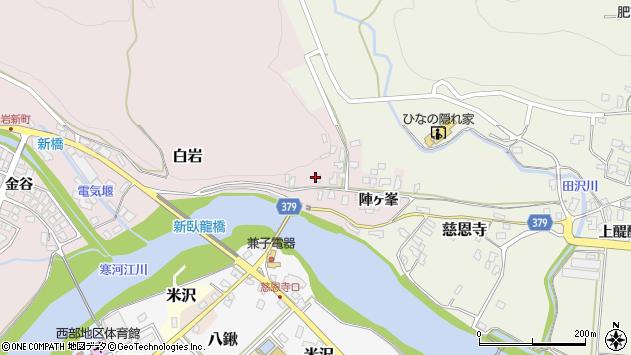 山形県寒河江市白岩2437周辺の地図