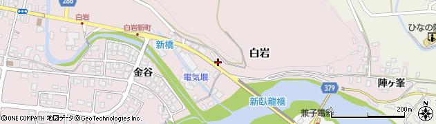 山形県寒河江市白岩3600周辺の地図
