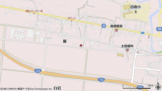 山形県寒河江市白岩201周辺の地図