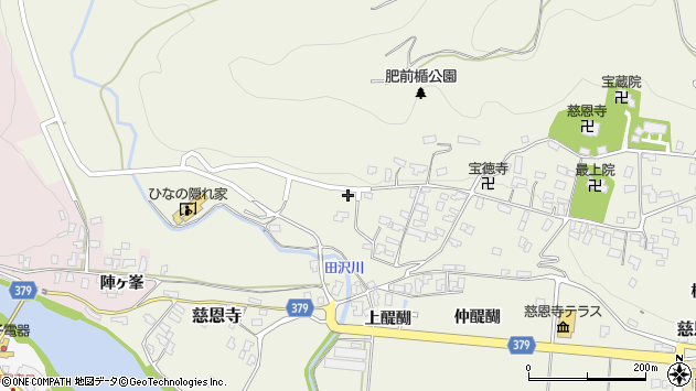 山形県寒河江市慈恩寺343周辺の地図