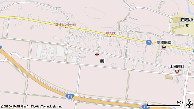 山形県寒河江市白岩1186周辺の地図