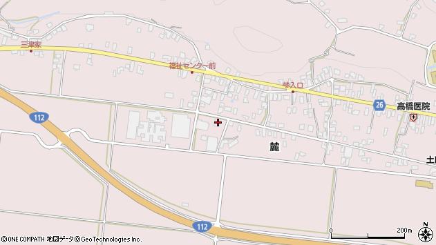 山形県寒河江市白岩376周辺の地図