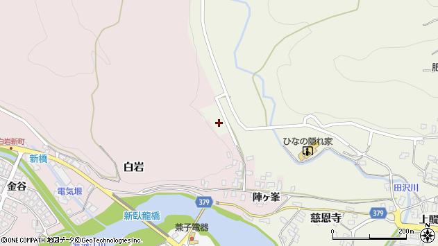 山形県寒河江市白岩2459周辺の地図