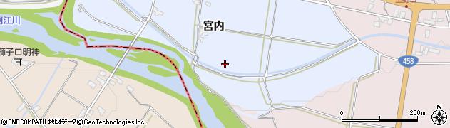 山形県寒河江市宮内大門周辺の地図