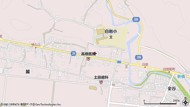 山形県寒河江市白岩224周辺の地図