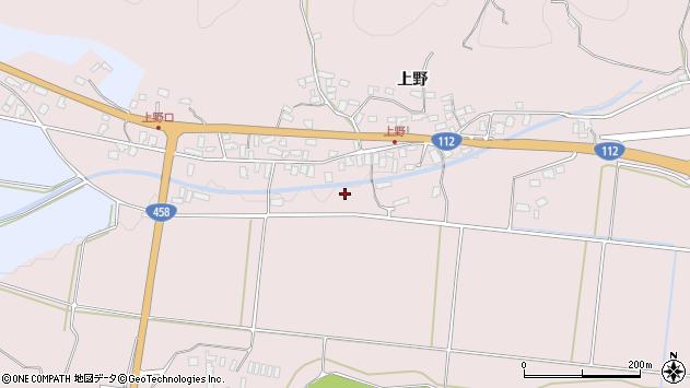 山形県寒河江市白岩上野周辺の地図