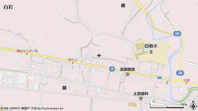 山形県寒河江市白岩297周辺の地図