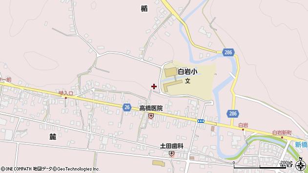 山形県寒河江市白岩八幡浦周辺の地図