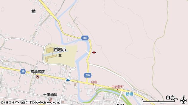山形県寒河江市白岩44周辺の地図