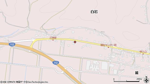 山形県寒河江市白岩地福田周辺の地図