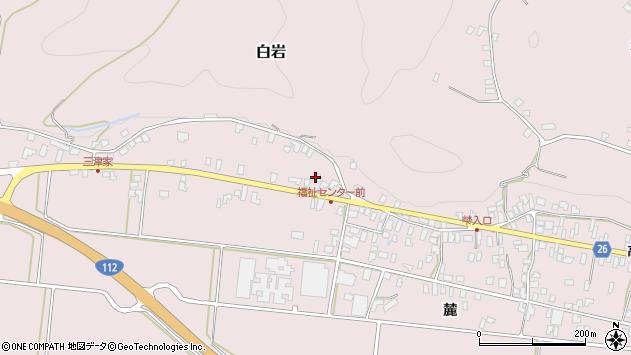 山形県寒河江市白岩439周辺の地図