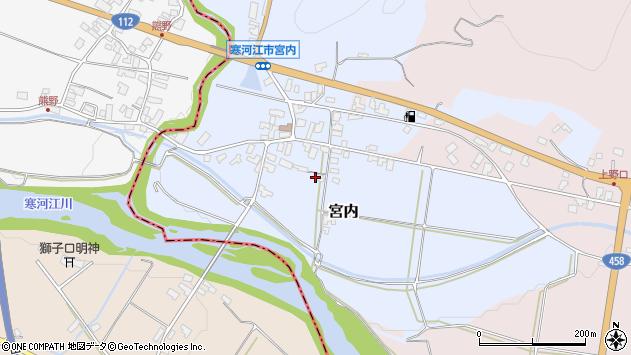 山形県寒河江市宮内60周辺の地図