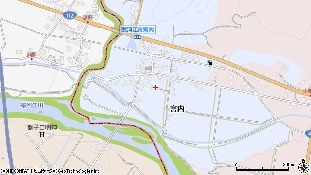 山形県寒河江市宮内56周辺の地図