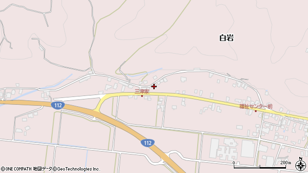 山形県寒河江市白岩529周辺の地図