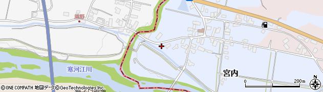 山形県寒河江市宮内250周辺の地図