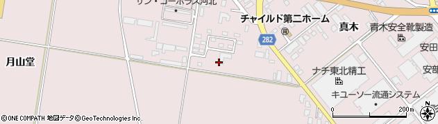 山形県西村山郡河北町谷地月山堂681周辺の地図