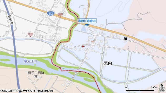 山形県寒河江市宮内47周辺の地図
