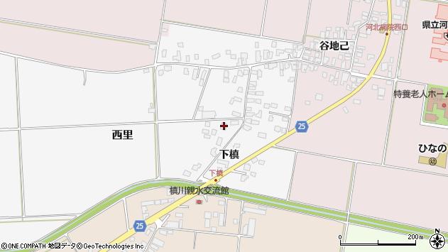 山形県西村山郡河北町西里下槇1135周辺の地図