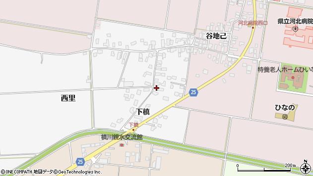 山形県西村山郡河北町西里下槇1046周辺の地図