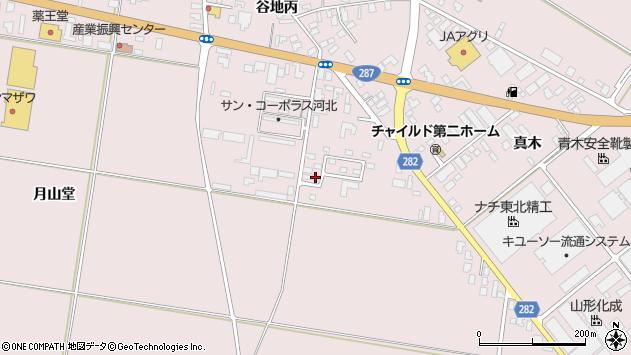 山形県西村山郡河北町谷地月山堂858周辺の地図
