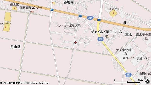 山形県西村山郡河北町谷地月山堂857周辺の地図