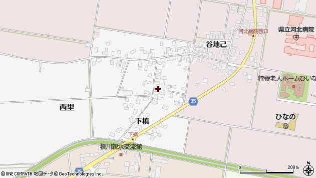 山形県西村山郡河北町西里下槇4931周辺の地図