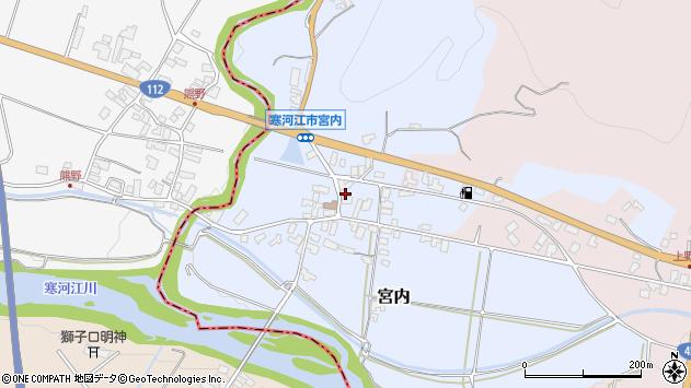 山形県寒河江市宮内41周辺の地図