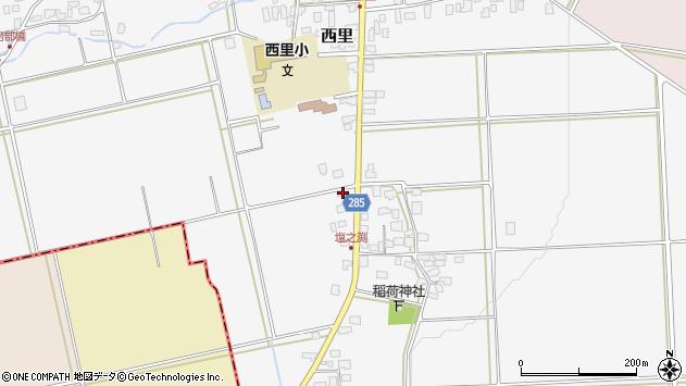 山形県西村山郡河北町西里835周辺の地図